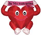 4 Foot Valentines Inflatable Sweet Heart Yard Decoration