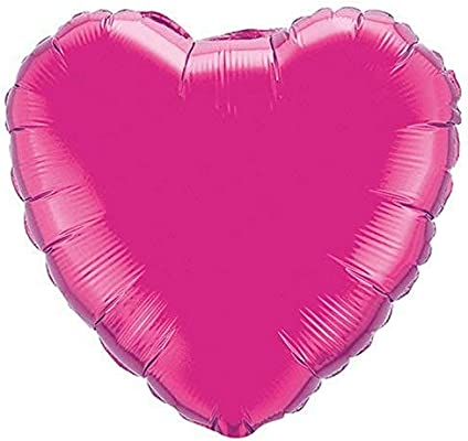 Qualatex Foil Balloon 099335 Heart Magenta 18 Purple