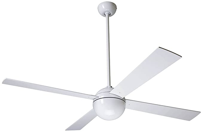 52 modern fan company gloss white ball ceiling fan amazon 52quot modern fan company gloss white ball ceiling fan mozeypictures Gallery