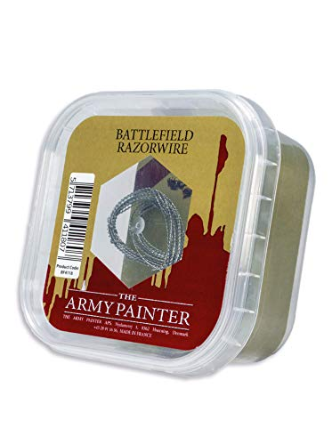 The Army Painter Battlefield Razorwire - Metal Razor Wire for Miniature Bases and Wargame Terrains, 4 m from The Army Painter