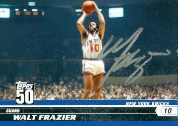 Walt Frazier Autographed Basketball - 9