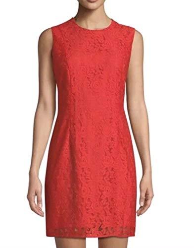 (Diane von Furstenberg Sleeveless Tailored Lace Sheath Dress Size 6)