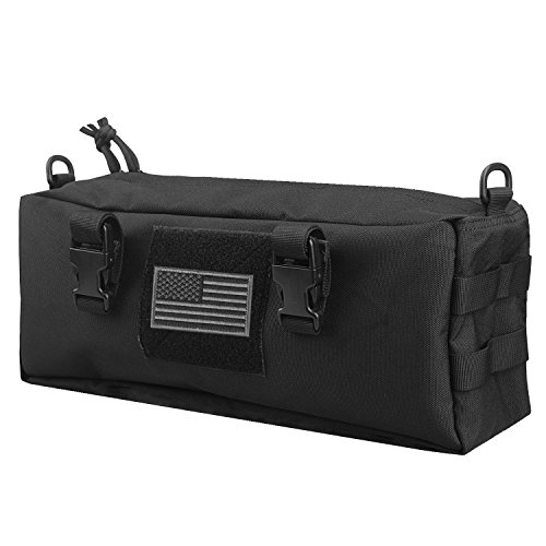 AMYIPO Tactical Pouch Multi-Purpose Large Capacity Increment Pouch Short Trips Bag (Black (1 PCS))