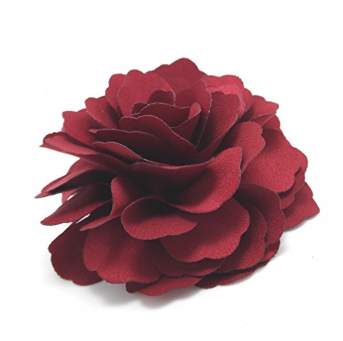 (Meilliwish Camellias Flower Hair Clip and Brooch Pin(DarkRed)(A74) )