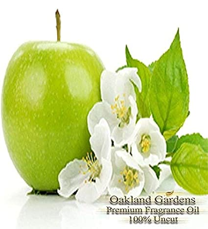 GREEN APPLE Fragrance Oil - 100% Pure Premium Grade Oil - Green, peely notes subtly soften the pervading sweetness of crisp ripe green apples - BULK Frangrance Oil By Oakland Gardens (030 mL - 1.0 fl oz Bottle) 4336903200