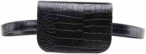Women's Fashion Mini Waist Bag Fanny Packs Crocodile Leather Cell Phone Pocket