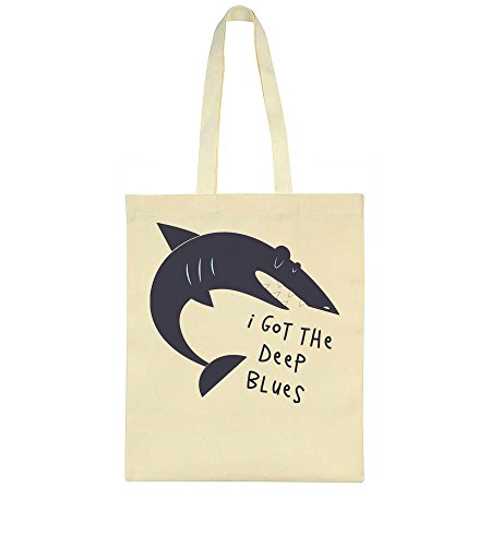 Tote Nice Deep Blues The I Idcommerce Bag Sad Got Shark xRnagC