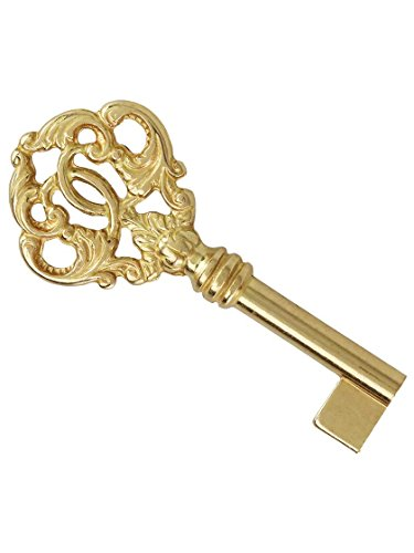 Large Solid Brass Barrel Key With Decorative Bow