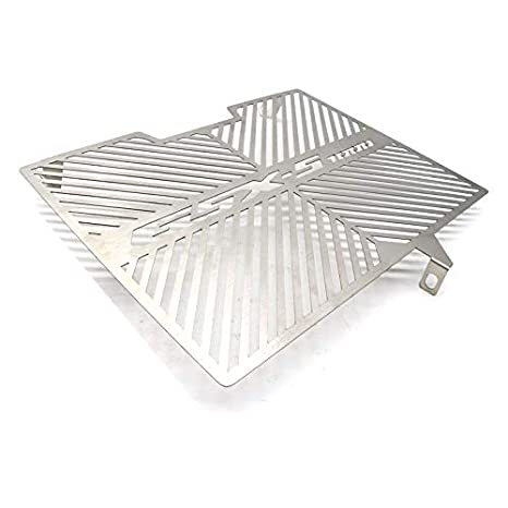 FairOnly Convenient Life Stainless Steel Motorcycle Radiator Water Tank Guard Protective Cover for SUZ-UKI GSX-S1000 15-17 silver