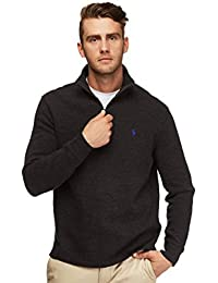 Men's Half Zip French Rib Cotton Sweater