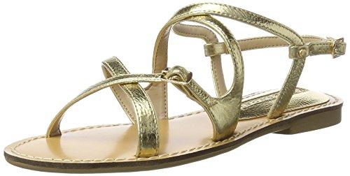 Buffalo Shoes 316-5298 Tumble Pu, Sandalias con Cuña para Mujer Dorado (Gold 01)