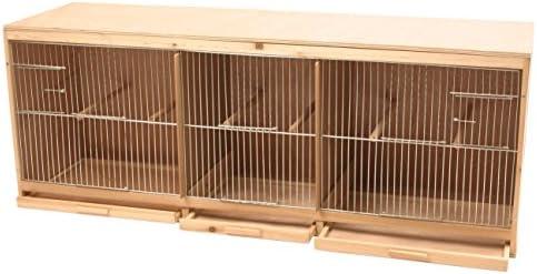 DUVO + Kit Jaula para pájaro Fabricada en Madera con 3 Partes ...