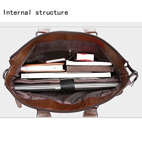 Bag Taille Business Bandoulière Large Homme 38cm Brown Pour Sac Brown À Messenger Cloud couleur x8Xqap8