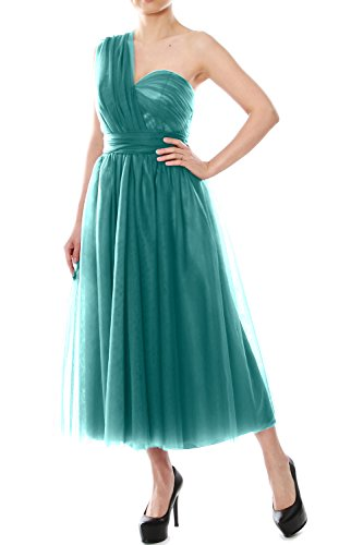 Tulle Formal Bridesmaid Oasis MACloth Length Tea Convertible Gown Dress Wedding Party wUWX8qt
