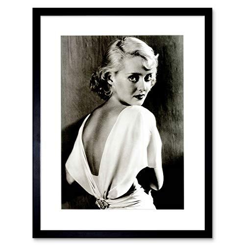 Vintage Photo Bette Davis Hollywood Actress Frame Art Print Picture F12X1782