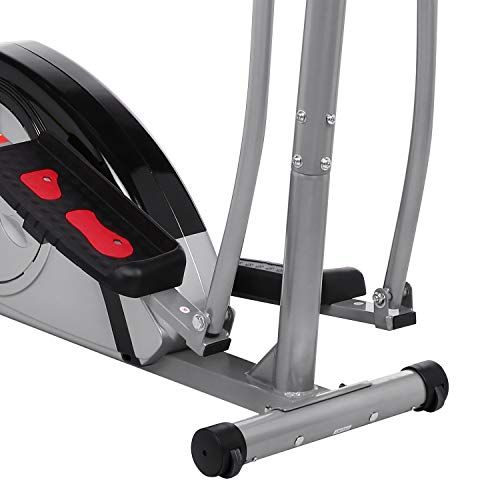 Fast 88 Portable Elliptical Machine Fitness Workout Cardio Training Machine, Magnetic Control Mute Elliptical Trainer with LCD Monitor,Top Levels Elliptical Machine Trainer (Grey) by Fast 88 (Image #5)