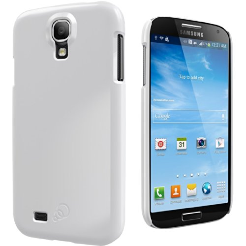 Cygnett White High-Gloss Slim Case for Galaxy S4 (Diamond White) with Screen Protector Included