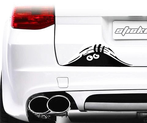 Jackey Awesome 1 X Peeking Monster Scary Eyes Car Decal / Sticker for Laptop Ipad Window Wall Car Truck Motorcycle (Focus (Peugeot 206 Computer)