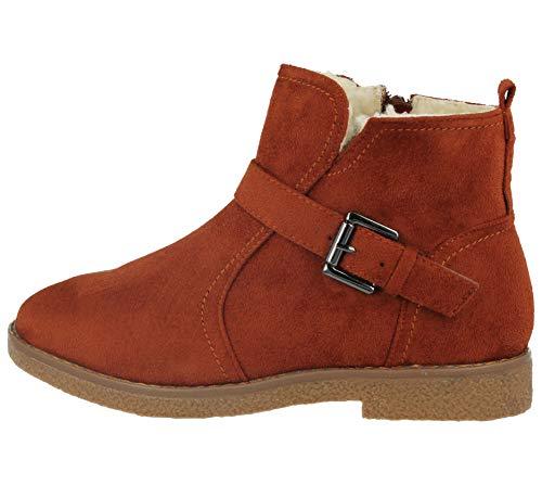 Chaud Foster En Lotti Daim Coussin Bottines Footwear 3 Dtail De Faux Chelsea Peau Doubl Boucle 8 Marche Fourrure Châtaigne Taille Femme Mouton Plat xScc7n