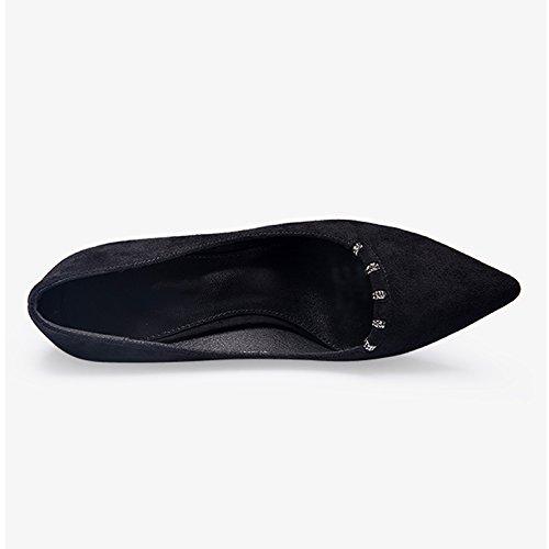 39 Puntas Para Mujeres Color Tacones Zapatos Altos Con Estilo De Y JIANXIN Negro Con Elegante Mujer Y De Primavera Zapatos Atractivas Tamaño Verano BqnwYd4