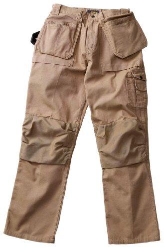 Blaklader Workwear Bantam Pant with Utility Pockets, 32-Inch Waist, 32-Inch Length, 8-Ounce Cotton - Khaki