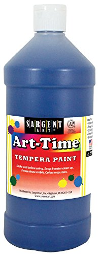 32 oz Blue Art-Time Tempera Paint - Sargent Art 17-6550