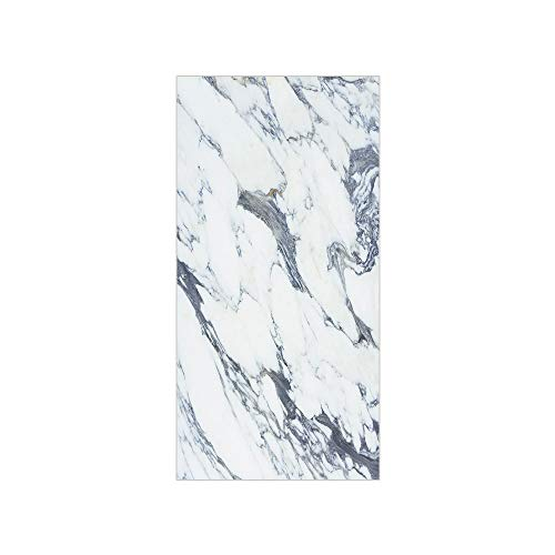 3D Decorative Film Privacy Window Film No Glue,Marble,Antique Marble Textured Ocean Style Organic Granite Rock Formation Art Print Decorative,Cadet Blue White,for Home&Office ()