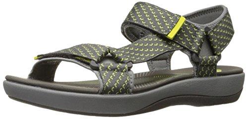 Clarks Womens Brizo Cady Sandal Flat Grigio