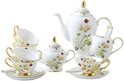 White Rose Juego de taza de té de la tarde inglesa Juego de taza ...