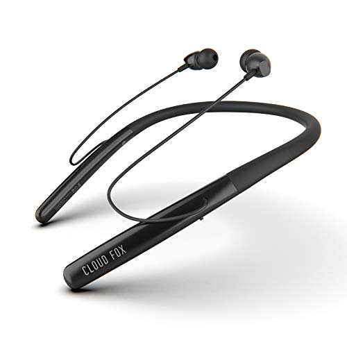 Cloud Fox Alexa Bluetooth Headphones, in-Ear Magnetic Wireless Earbuds with Mic, IPX5 Sweatproof Neckband Earphones for Sports, Superior Sound Quality, Bluetooth 4.2, Noise Canceling, 8 Hours Playtime