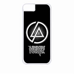 Linkin Park Chains-Hard White Plastic Snap - On Case with Soft Black Rubber Lining-Apple Iphone 5 - 5s - Great Quality!