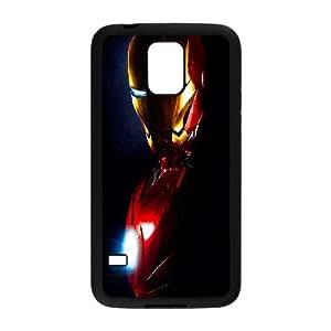 Iron Man Samsung Galaxy S5 caja del teléfono celular funda Negro caja del teléfono celular Funda Cubierta EEECBCAAK71067