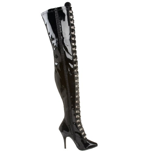 brand new unisex sale online Pleaser Women's Seduce-3024 Tigh High Boot Black Stretch Patent sale shop wide range of sale online clearance comfortable 6A1ON