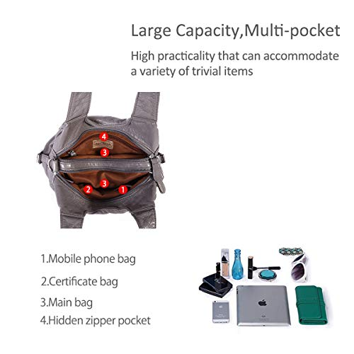 Gray large amp; Totes Women DORIS bags NICOLE handbags multiple Hobo pockets vUxwqyfI