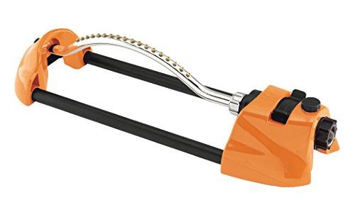 Dramm 15002 ColorStorm Premium Metal Oscillating Sprinkler with Brass Nozzle Jets, Orange