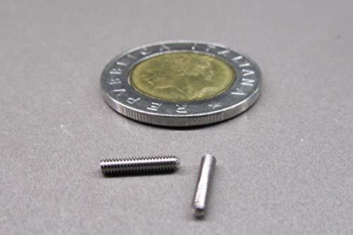 M2 x .4 mm Thread x 10 mm Length Metric 18-8 Stainless Steel Cone Point Set Screws 50 pcs