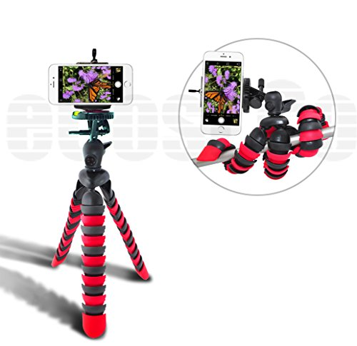 Acuvar-12-Inch-Flexible-Camera-Tripod-with-Wrapable-Disc-Legs-Quick-Release-Plate-Universal-Smartphone-Mount-for-ALL-Smartphones