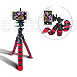 Acuvar 12 Inch Flexible Camera Tripod with Wrapable Disc Legs & Quick Release Plate + Universal Smartphone Mount for ALL Smartphones
