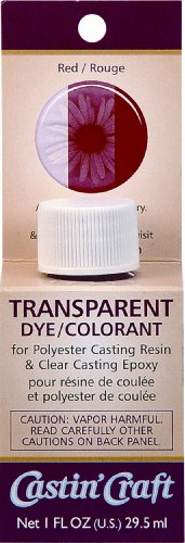 Polyester Epoxy Resin (Environmental Technology 1-Ounce Casting' Craft Transparent Dye, Red)
