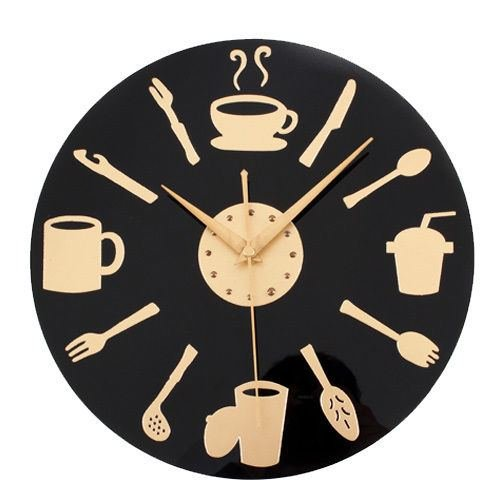 Muktat_ Kitchen-Wall-Clock-Knife-amp-Fork-Spoon-Retro-Art-Tableware-Watch-Home-Decor - Fork & Amp ; Spoon