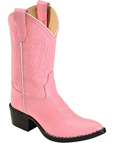 Girls Pink Leather Cowboy Boots, 13 M US Little Kid (Girls Cowboy Boots Pink)