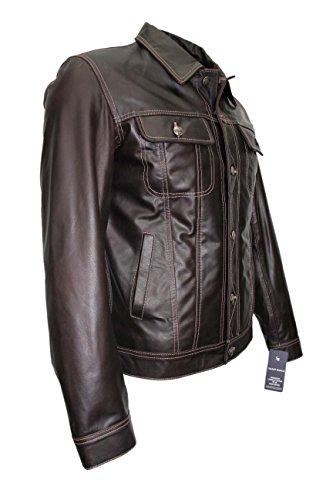 Giacca In Uomo Occidentale Marrone Classica Reale Pelle Da 'trucker' Skipper 1280 Bovina BF7CwqdF