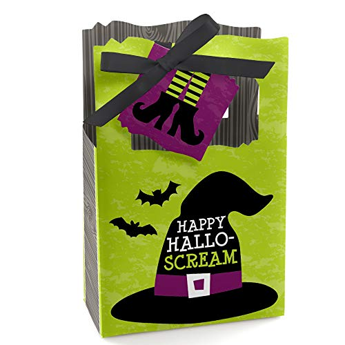 Happy Halloween - Witch Party Favor Boxes - Set of 12 ()