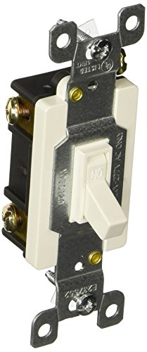 Morris 82021 Commercial Toggle Switch, Single Pole, 20 Amp Current, 120V/277V, White