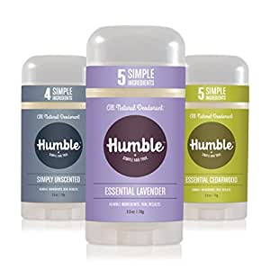 Humble 3-Pack Assorted All Natural Deodorant