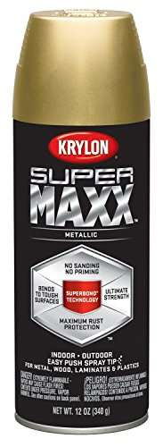 Krylon K08990000 SUPERMAXX All-In-One Spray Paint, Gold Meta