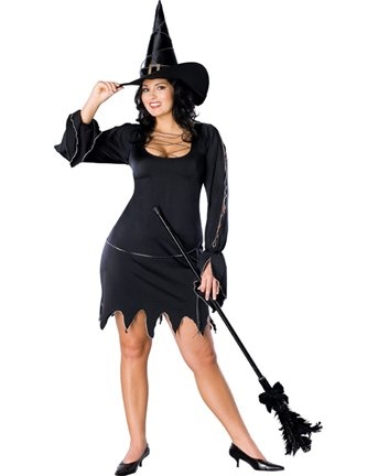 Secret Wishes Women's-Size Bewitched Costume, Multicolor, Plus (Bewitched Costume)