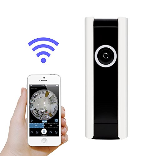 Ge Digital Security System - Wireless Security Camera, GERI Home Surveillance DVR HD WiFi Indoor Cam Video Monitoring with 185 Degree Super Wide Angle, Night Vision