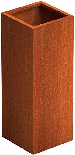 Fioriera in acciaio corten SENZZO Cortensteel Planter 37x37x100 cm