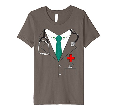 Kids Doctor Lab Coat Halloween Costume Premium T-shirt 10 Asphalt